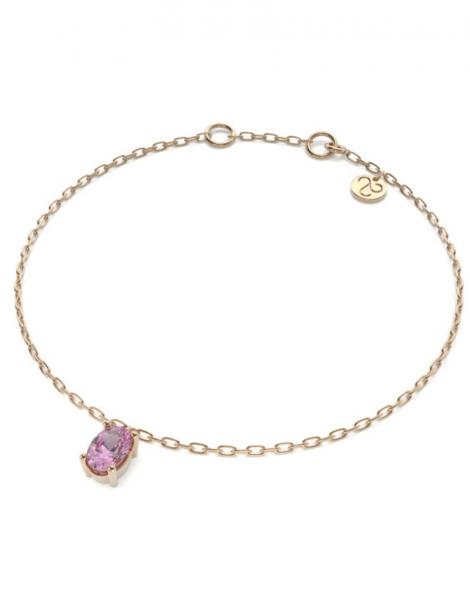 pulsera savina zafiro rosa
