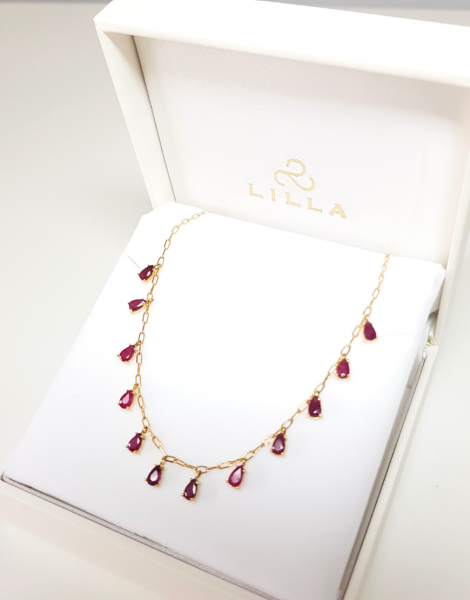 COLLAR ULLAL MINI RUBIES